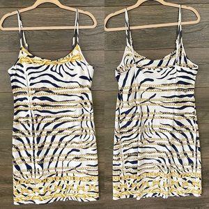 J. MCLAUGHLIN | Zebra Print Chain Link Mini Dress
